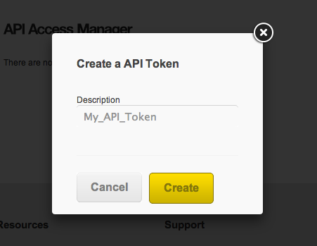 Panacea Mobile API Token